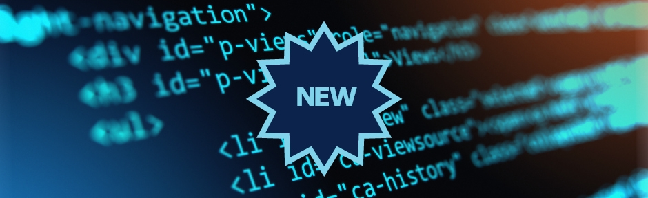 "Computer code on screen with the word ""new"" superimposed on top"