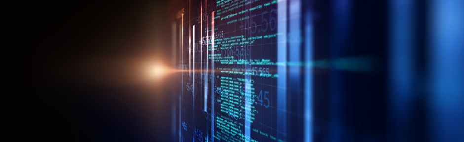 Screen showing code