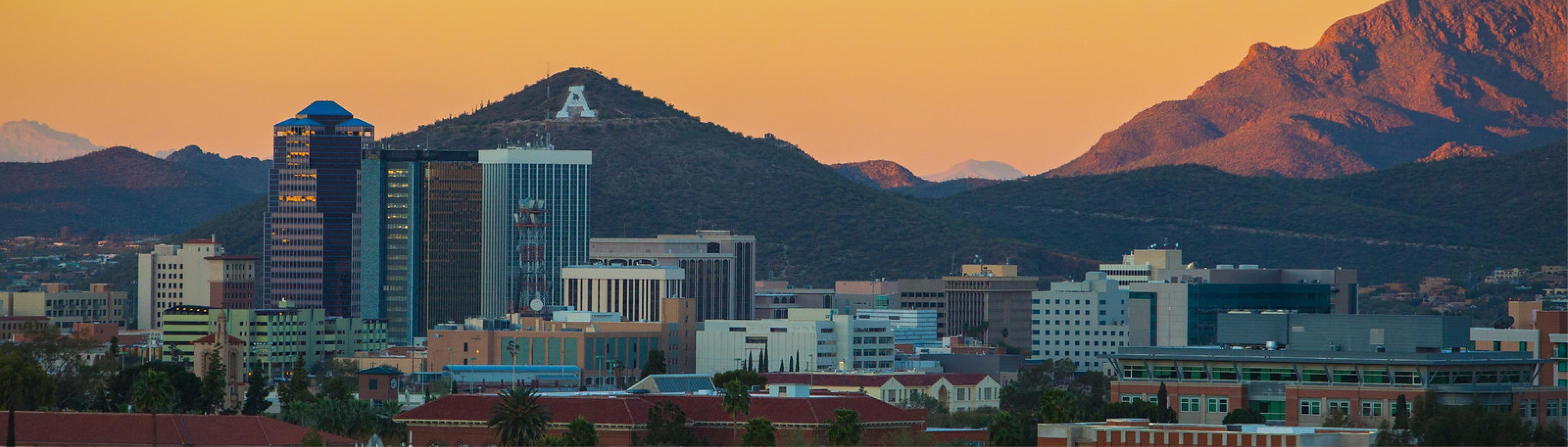 "University of Arizona and ""A"" mountain"